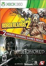 Borderlands 2 Dishonored Bundle (Microsoft Xbox 360, 2014) NEW