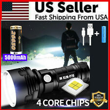 Super-Bright 90000LM Flashlight CREE LED P70 Tactical Torch LED Recharge Battery