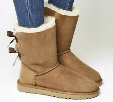 UGG Australia Bailey Bow II Chestnut - Big Kids Size 5 (Adult Size US 6 EU 37)
