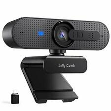 HD 1080P PC Webcam with Type C Adapter, Autofocus, Privacy Cover and