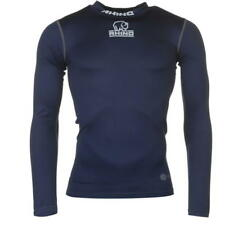 RHINO RUGBY BASE LAYER TOP MENS – NAVY BLUE – TURTLE NECK – EXTRA SMALL - BNWT