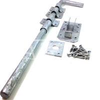 """450mm (18"""") HEAVY DUTY GARDEN GATE GARAGE STABLE DOOR DROP BOLT INCLUDING FIXING"""