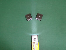 Two (2) Push Button 9 V  LED Flashlight Heads Tops Only (No Batteries)