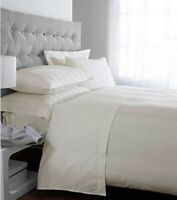 Cream Double Duvet Cover 100% Egyptian Cotton Stripe