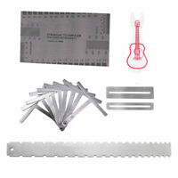 Guitar Neck Notched Straight Edge Luthier Tools Kit Understring Radius Gauge Set