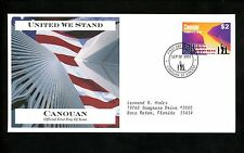 Postal History FDC 7 St Vincent Grenadines Canouan United We Stand WTC 9/11 2003