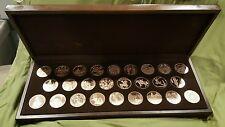 Franklin Mint Sculptor's Studio II Bronze Medals Collection Set W Case RARE