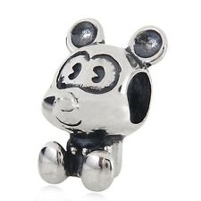 NEW 925 Sterling Silver European Bracelet Charm Bead Mickey Mouse