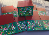 5 X DISNEY STORE CHRISTMAS GIFT BOXES MUG BOX SIZE MICKEY MINNIE