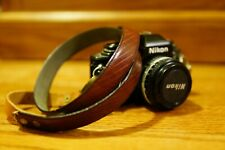 Vintage Handmade Camera Strap from Leather Belt, Cleaned and Oiled