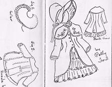 "20-21""ANTIQUE DOLL CAPE-COAT/DRESS HAT PATTERN/FRENCH JUMEAU/BRU-GERMAN GIRL"