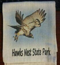 New listing Hawks Nest State Park Linen Tea Towel Linen Dish Towel West Virginia Souvenir