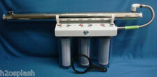 "Whole House Water Filter /Sediment/Carbon Clear 3/4"" Ports 8 GPM UV Sterilizer"