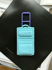 Barbie Doll Light Blue Vintage Suitcase 1999 Hard Shell Luggage Travel Bag