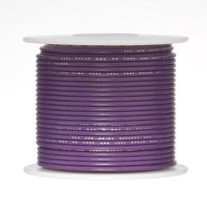 """20 AWG Gauge Stranded Hook Up Wire Violet 250 ft 0.0320"""" UL1007 300 Volts"""