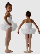 NWT Dance Mirella White Camisole Leotard Tutu Dress Ruffles Sm Child 4-6 M216C