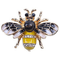 Fashionable Bumble Bee Crystal Brooch Pin Costume Badge Party Jewelry Gift F8I8