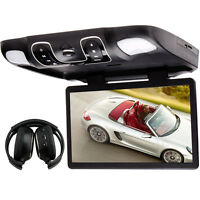 LCD 15.6''Car Flip Down Monitor DVD Player ROOF Mounted Digital TV
