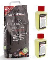 LotusGrill Buchenholzkohle 2,5 kg inkl. 2x Brennpaste 200ml für den LotusGrill