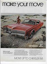 1968 Chrysler 300 440 ci V-8 TorqueFlite Original Vintage Paper Print Ad