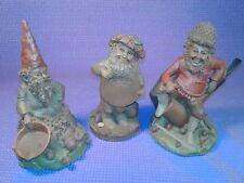 Tom Clark Gnomes Lot Of 3 Button/Sorghum/Smoky Cairn Studio Item