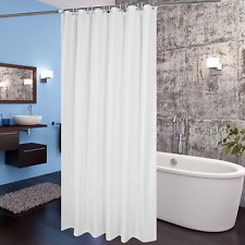 White Fabric Shower Curtain 72x78 Inch Extra Long Liner Waterproof Sealskin, New
