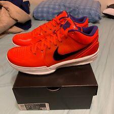 Undefeated X Nike Zoom Kobe IV 4 Protro Team Orange Phoenix Suns Sz 10.5 In Hand