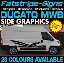 FIAT DUCATO L2 MWB GRAPHICS STICKERS STRIPES DECALS DAY VAN CAMPER MOTORHOME