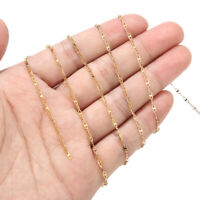 5 Meters Gold Tone Stainless Steel Chain Findings Link Chains for Jewelry Making