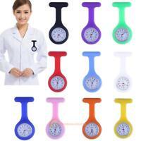 Silicone Nurse Watch Quartz Fob Band Brooch Pendant Pocket Tunic Clip-on Watch