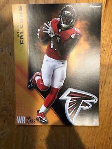 "Julio Jones Fathead Tradeables 5"" x 7"" Atlanta Falcons team logo NFL Decal"