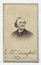 CDV ACTOR E.L. DAVENPORT AUTOGRAPHED. ST. LOUIS, MISSOURI.