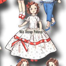 "Vintage Huge Wardrobe Pattern ~ 12"" Shirley Temple Doll Dress Coat Hat Pants"