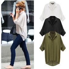 Damen-Blusen hüftlange Damenblusen, - tops & -shirts aus Chiffon