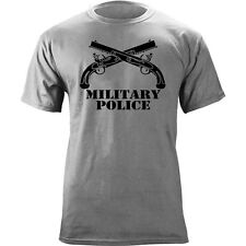 US Army Military Police Branch Insignia Crossed Pistols Veteran Graphic T-Shirt