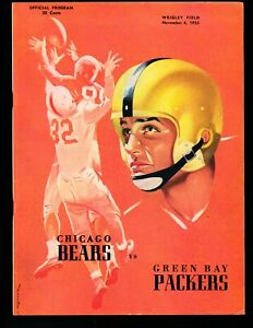 NR MINT 11/6/1955 Green Bay Packers @ Bears NFL Program - Oldest NFL Rivalry