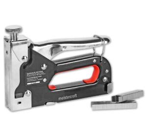 meistercraft Handtacker-Set im Koffer Klammern 4-14mm Hefttacker inkl.1500 Teile