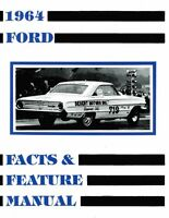 1964 Ford Facts & Features Sales Brochure Literature Book Specifications