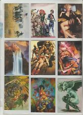 PROMO CARDS GROUP A OF FANTASY ART, SYFY, COMIC & CARD SETS $.99 EACH VG TO EX