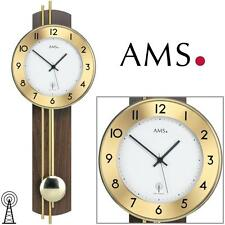 Ams 5266/1 Wall Clock with Pendulum Rc, Walnut Veneered