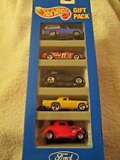 1993 Hot Wheels Ford 5 Car Gift Pack Bronco, 3 Spoke T-Bird, Sedan Del, Coupe