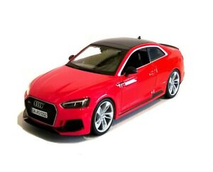 2019 AUDI RS 5 COUPE in Red- 1:24 Scale Die-cast RS5 Sports Car Model by Burago