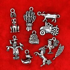 Tibetan Silver Farm Yard Theme Charm Pendant Bead Finding Jewellery Making