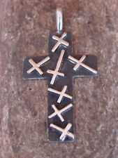 Native American Indian Jewelry Sterling Silver Cross Pendant by Ernest Rangel
