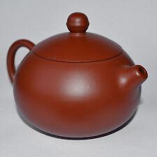 Teapot 85x Pure handmade red sand zhu mud yixing purple sand round Xi shi 180cc