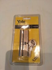 YALE profilo cilindro Front/Back Door Lock P-23545-SNP Satinato Finitura Nickel