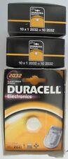Lot of 50 Fresh Genuine Duracell DL2032 3v Lithium Batteries Rpl. CR2032 ECR2032