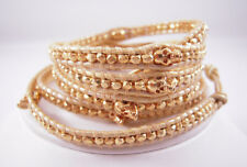 with Gold Skulls Wrap Chan Luu Gold on Gold