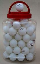 60 Tischtennisbälle** im Eimer Tischtennisball weiss TT-Bälle  (Versand aus D)