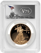 End of World War II 75th Anniversary American Eagle Gold Proof Coin V75 PR69